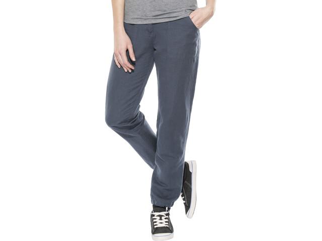 Elkline Leinenlos Pantalon Femme, bluegrey